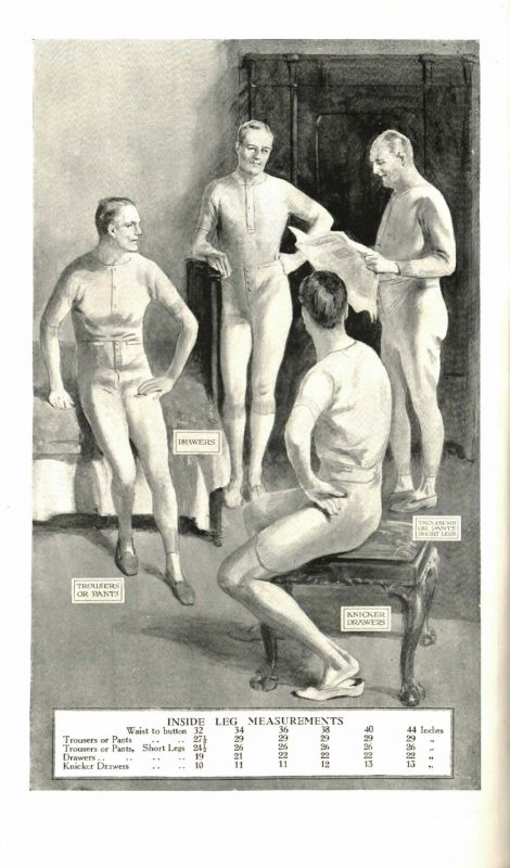 Inside Leg Measurements 1923