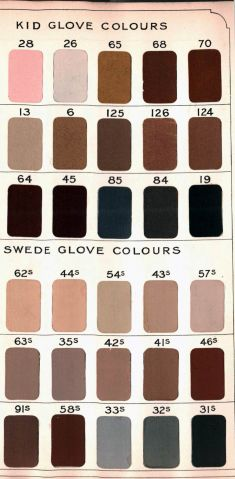 Glove Colour Selection